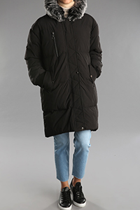 Hooded Furry Zippered Coat