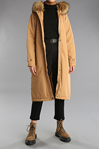 Hooded Furry Detail Pocket Coat