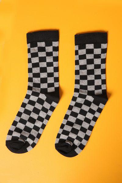 Kare Desenli Çorap