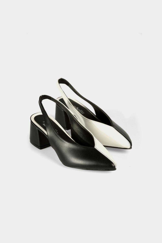 Allday 189 0356 Kadın Siyah Kare Topuk Ayakkabı