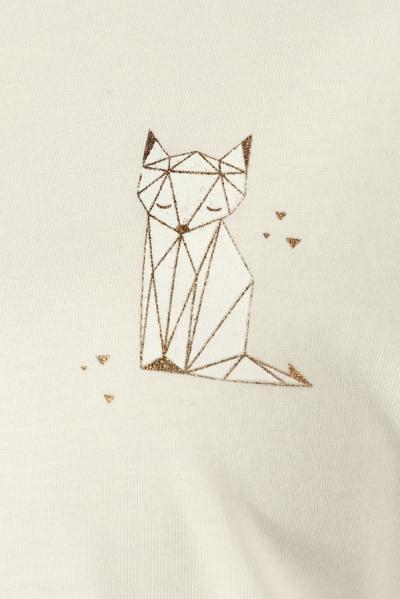 Kedi Baskılı Penye Tunik
