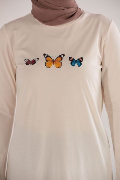 BUTTERFLY PRINTED TUNIC