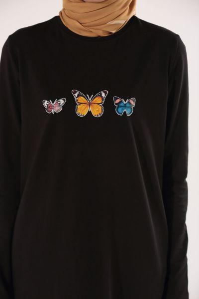 Kelebek Baskılı Tunik