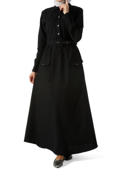 Kemerli Cepli Elbise