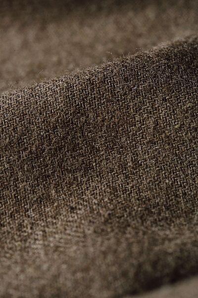 Kemerli Düğmeli Doğal Kumaş Elbise