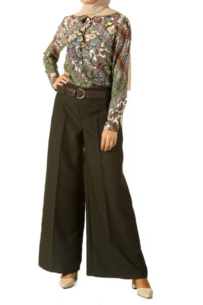 Kemerli Korsajlı Pantolon