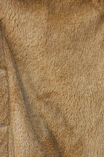 MİBA TEKSTİL Doğal Kumaş İçi Polar Kemerli Kot Ceket