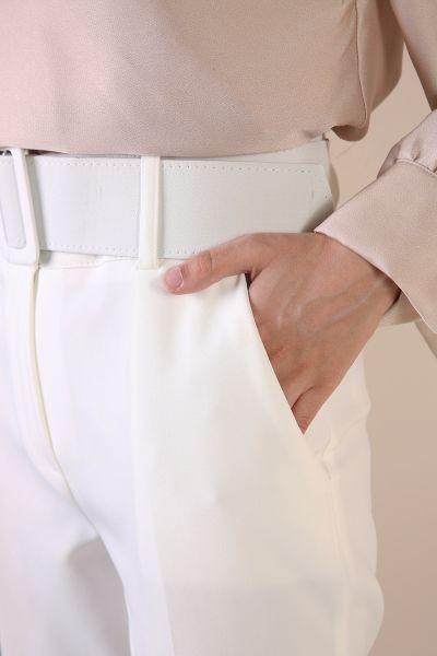 Kemerli Cepli Pantolon