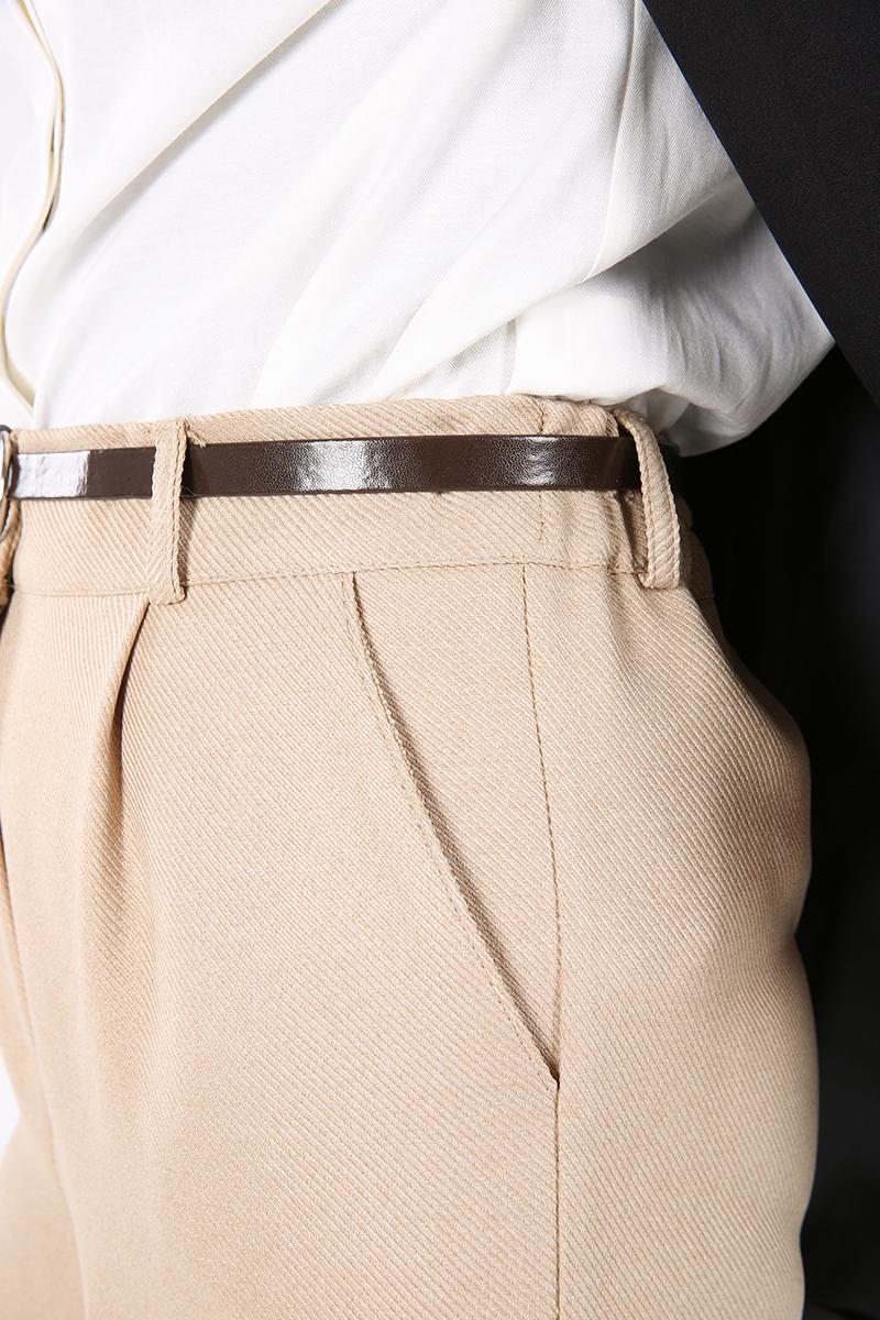 Kemerli Boru Paça Pantolon