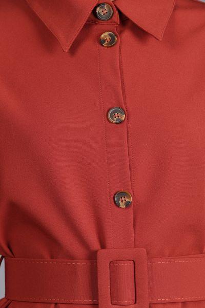 Kemerli Pantolonlu Düğmeli Takım