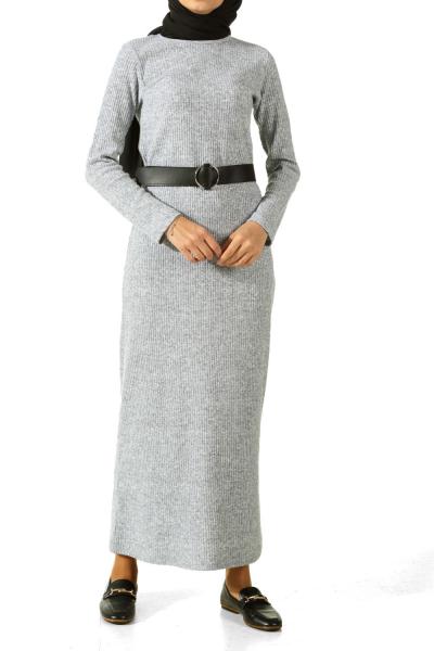 Kemerli Triko Elbise