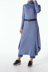 BELTED KNITWEAR DRESS TUNIC