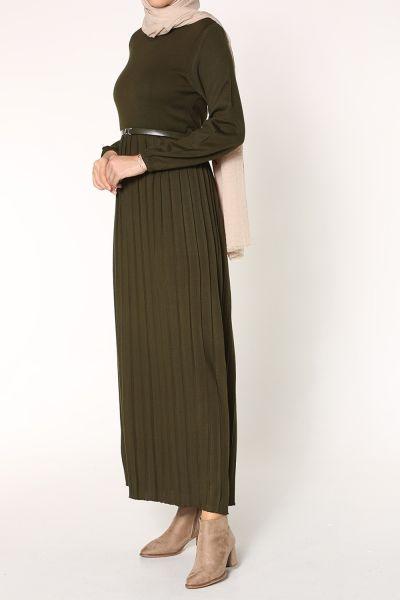 BELTED KNITWEAR DRESS