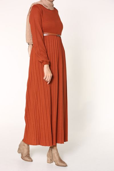 BELTED KNITWEAR DRESS
