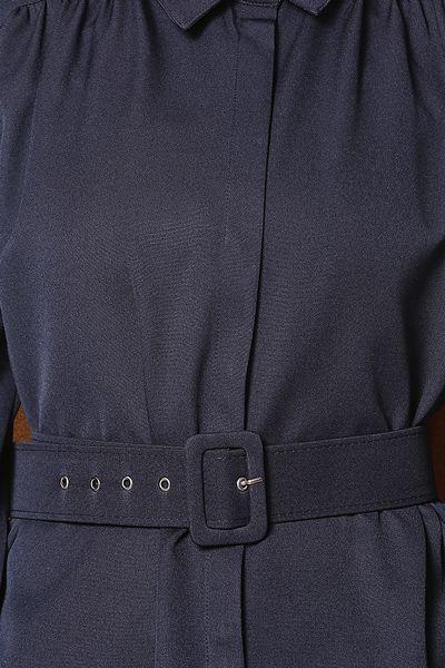 Kemerli Düğmeli Uzun Tunik
