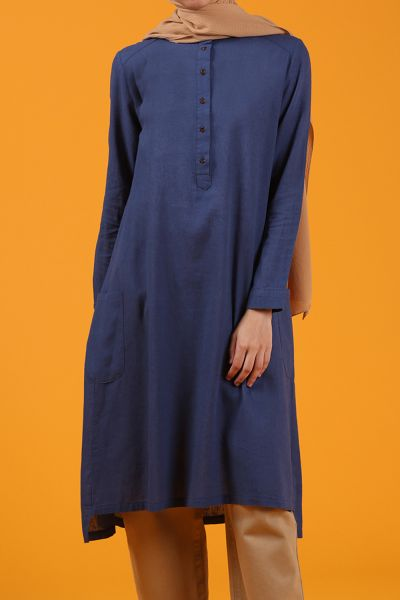 LINEN POCKET TUNIC