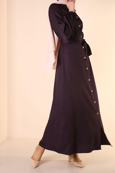Keten Kuşaklı Elbise