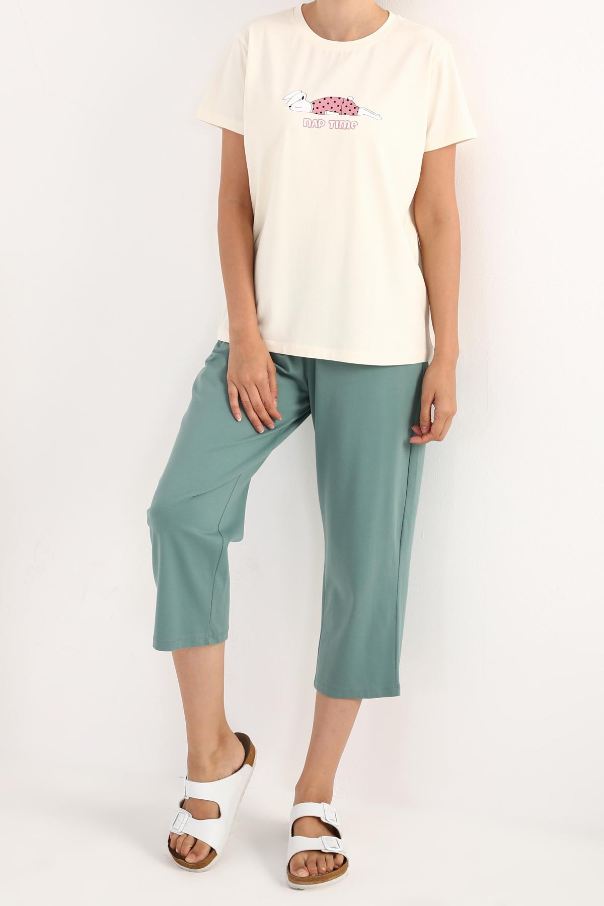 Short Sleeve Printed Cotton Pyjamas