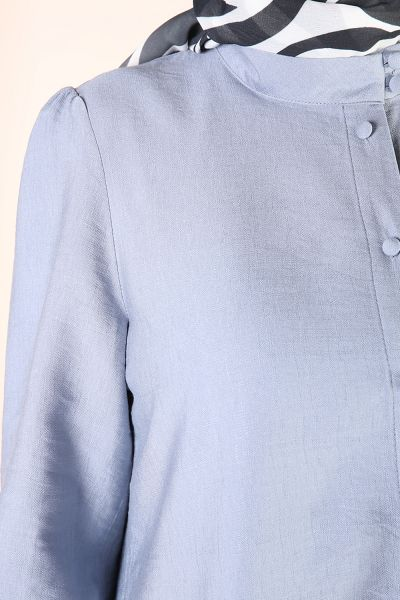 Kol Büzgülü Uzun Gömlek