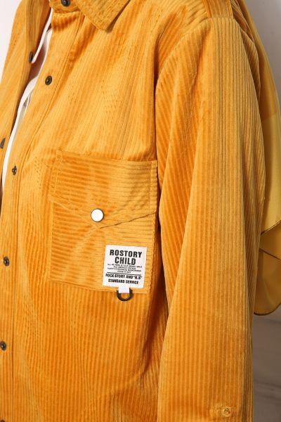 Kol Çıtçıtlı Cepli Kadife Gömlek