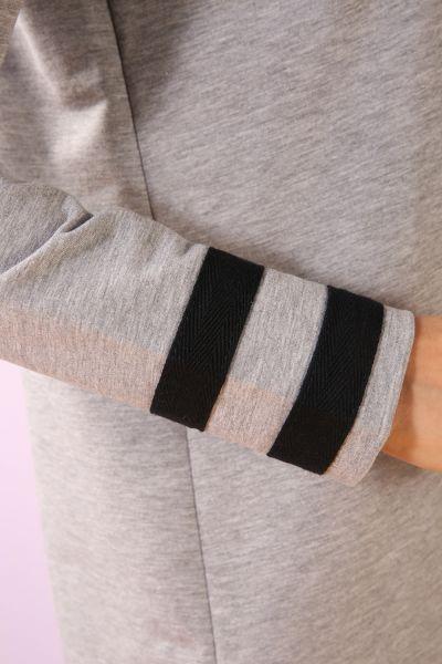 Kol Etek Şeritli Örme Tunik