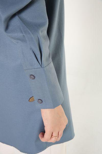 Kol Pileli Düğmeli Gömlek