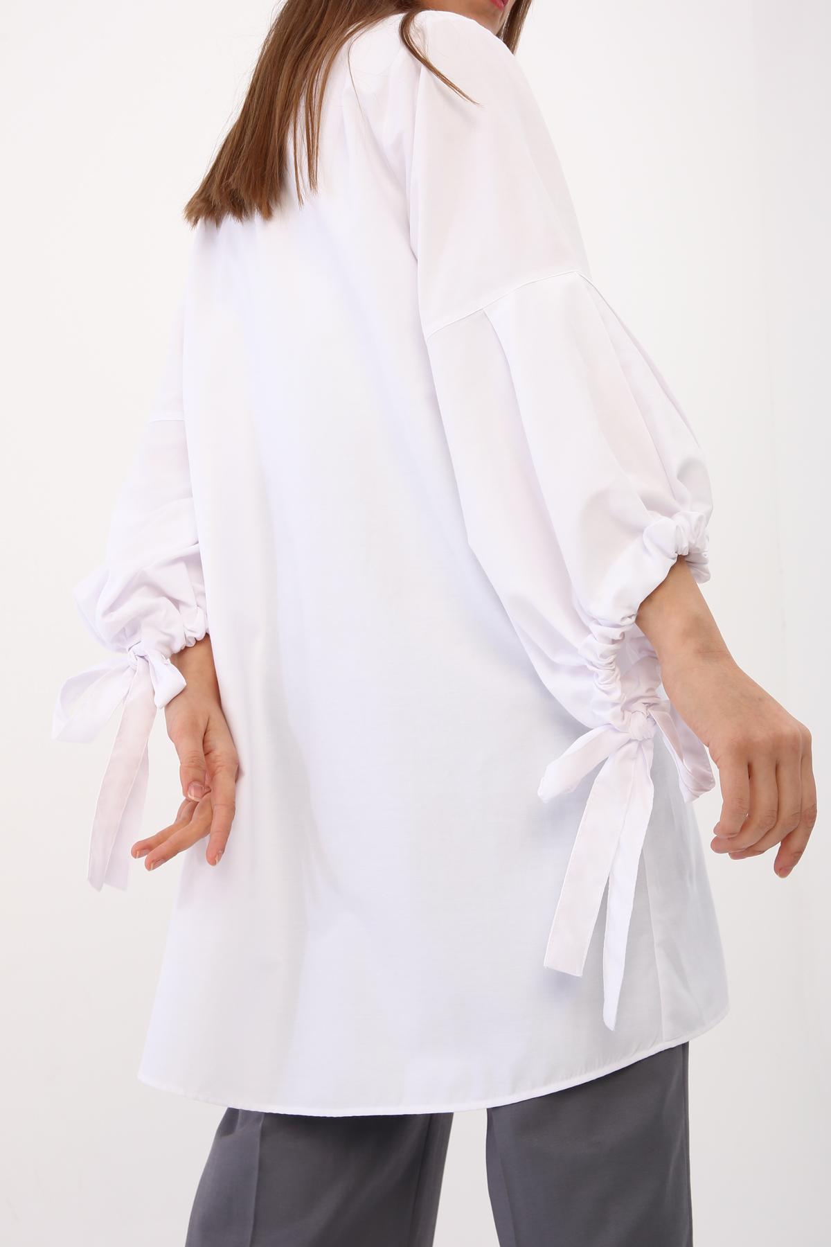 Kimono Detailed Sleeve Long Shirt