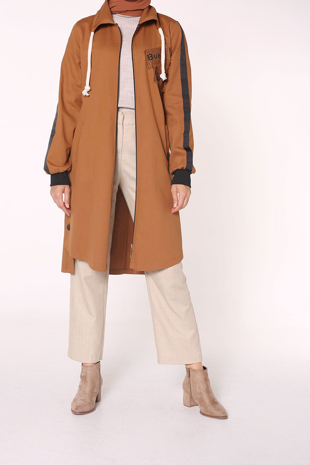 PRINTED TRENCH COAT
