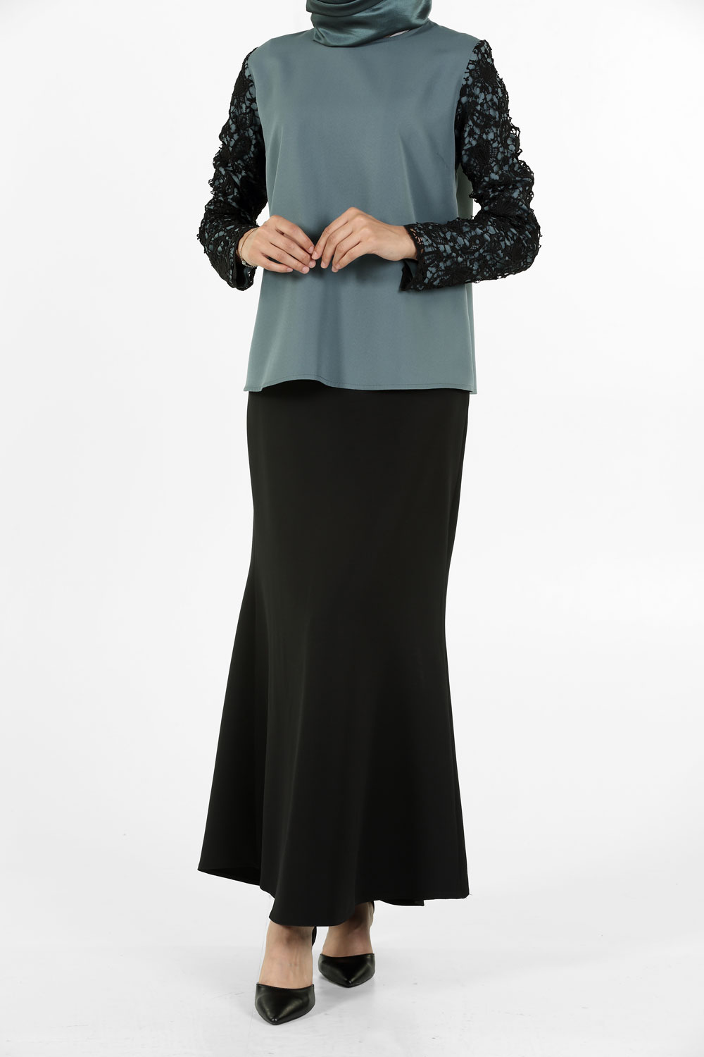 HIJAB SUIT WITH SKIRT