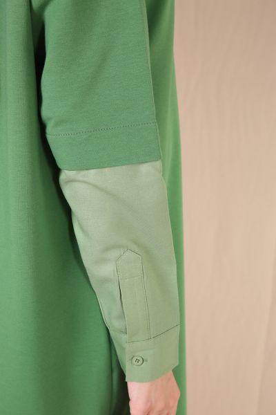 Kolları Gömlek Detaylı Garnili Tunik