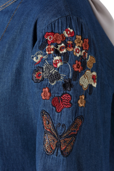 Embroidered Jeans Tunic