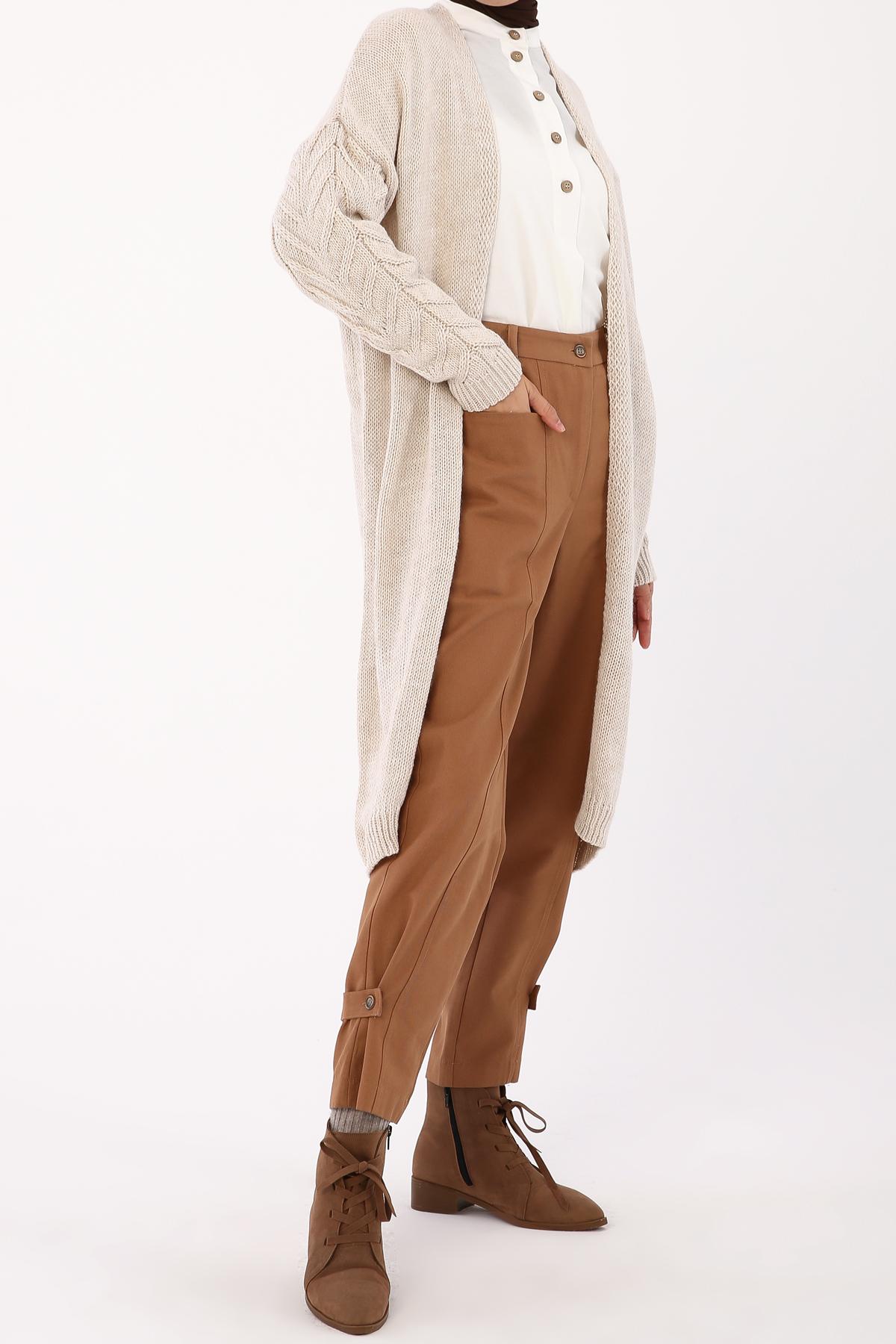 Knit Detailed Sleeve Cardigan