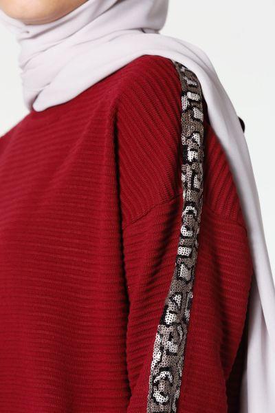 Kolları Pul Şerit Tunik