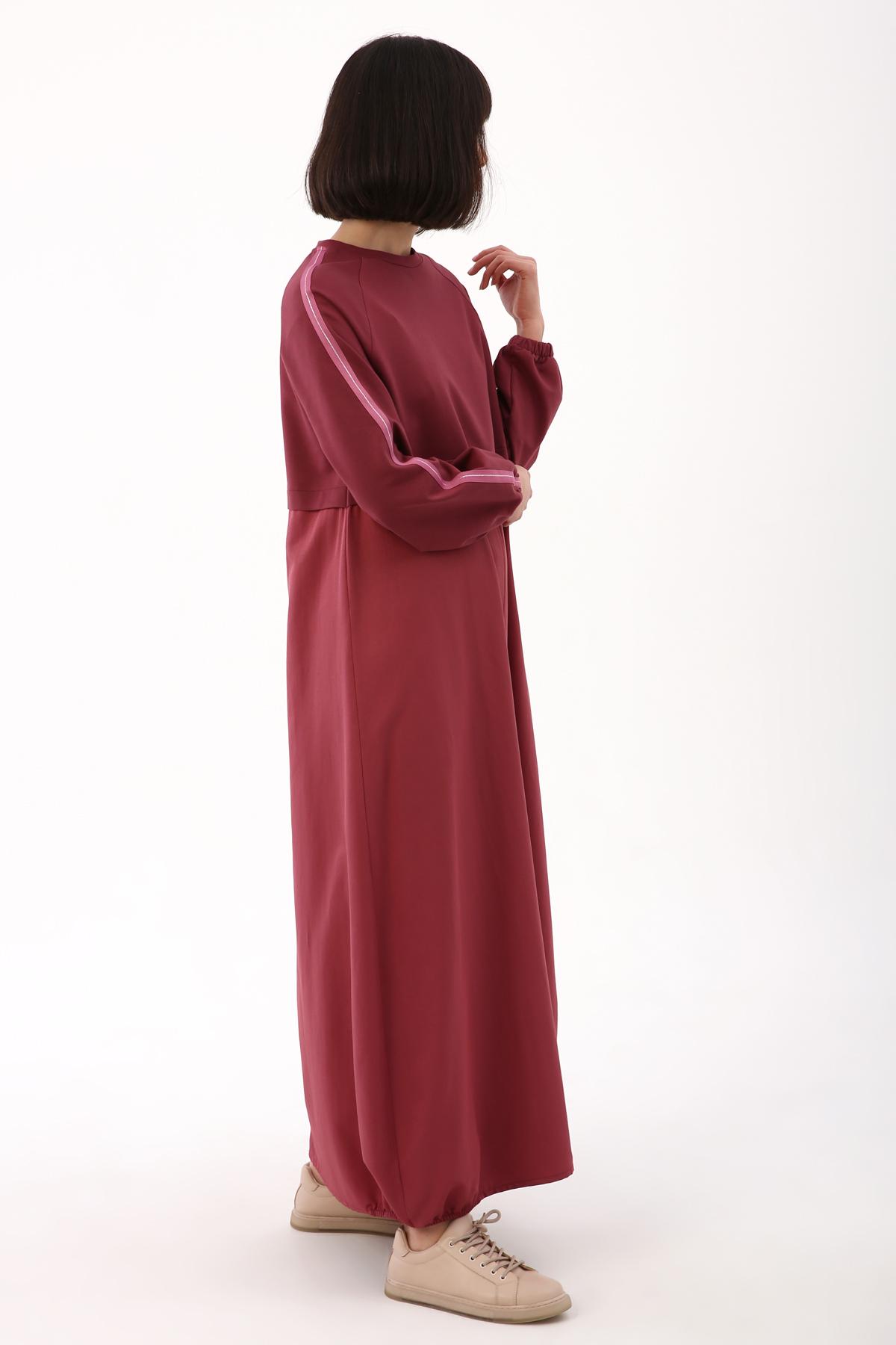 Sleeve Detailed Tent Model Dress