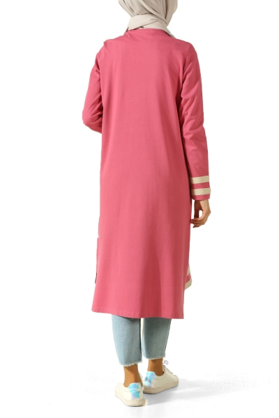 LENGTH LITTLE LINE PINK TUNIC