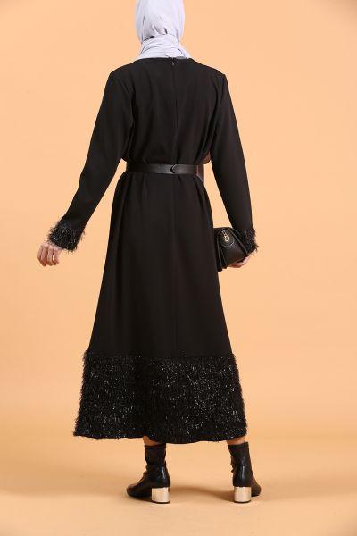Kolu Eteği Püsküllü Elbise