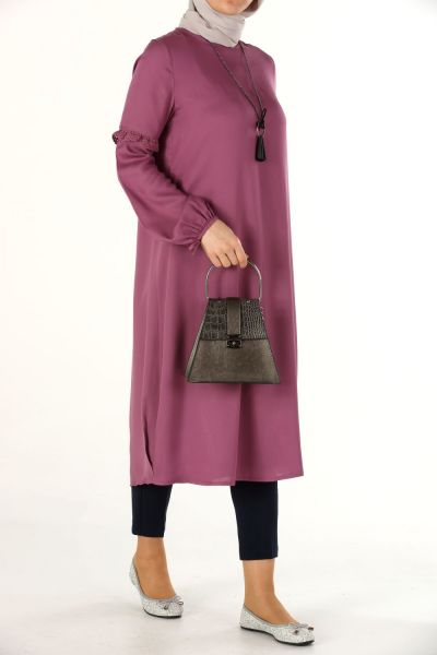 GUIPURE SLEEVE WITH NECKLACE TUNIC
