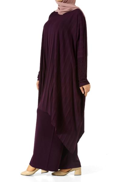 Pearl Detail Hijab Suit