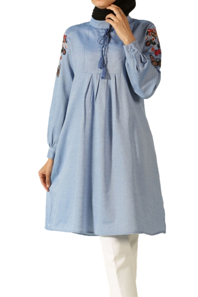 Embroidered Sleeve Tunic