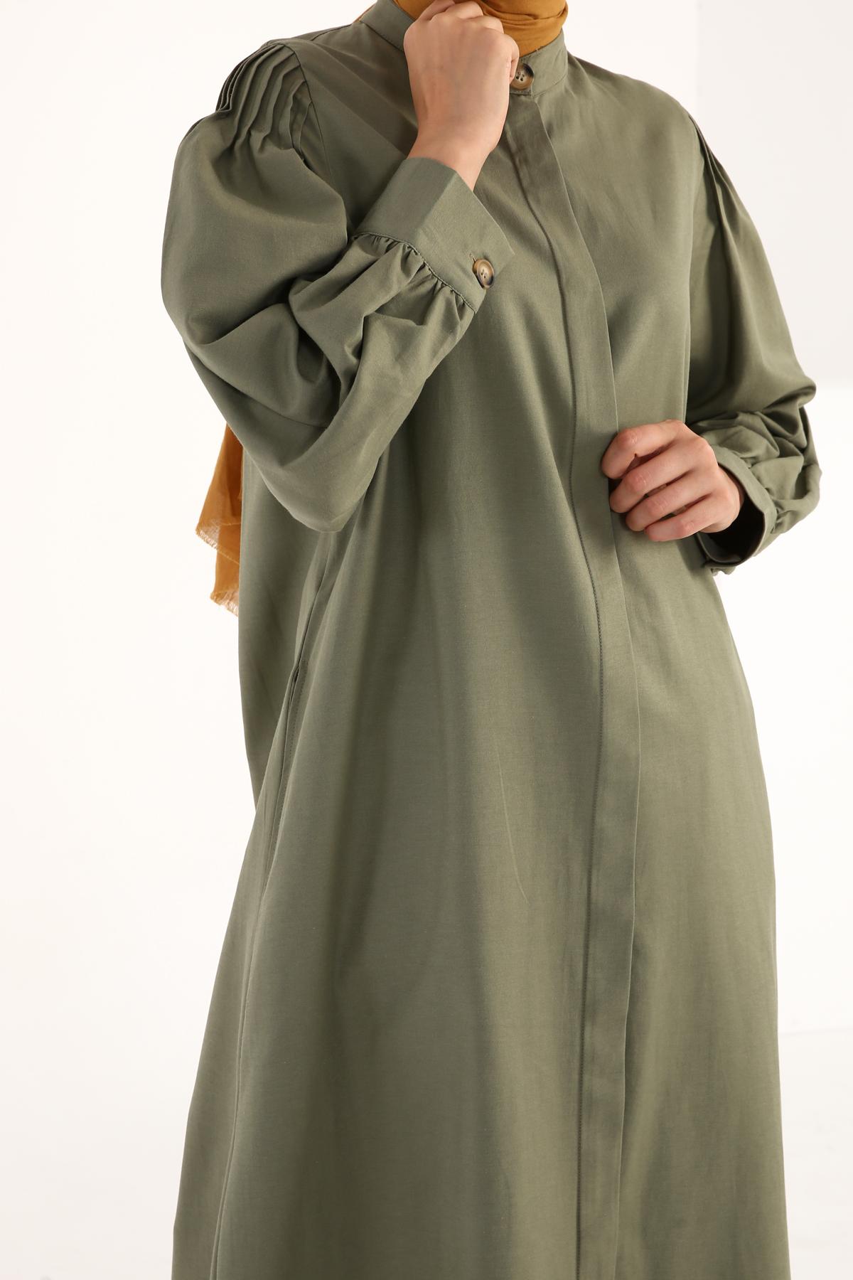 Sleeve Detailed Cotton Abaya