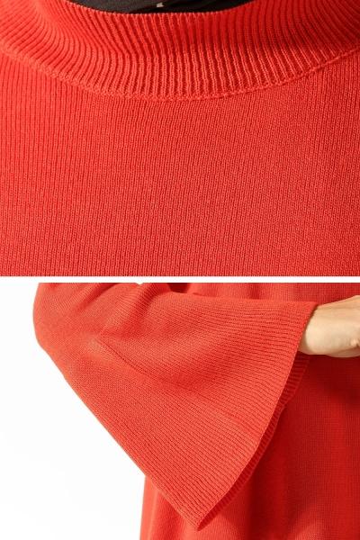 Volanlı Triko Elbise