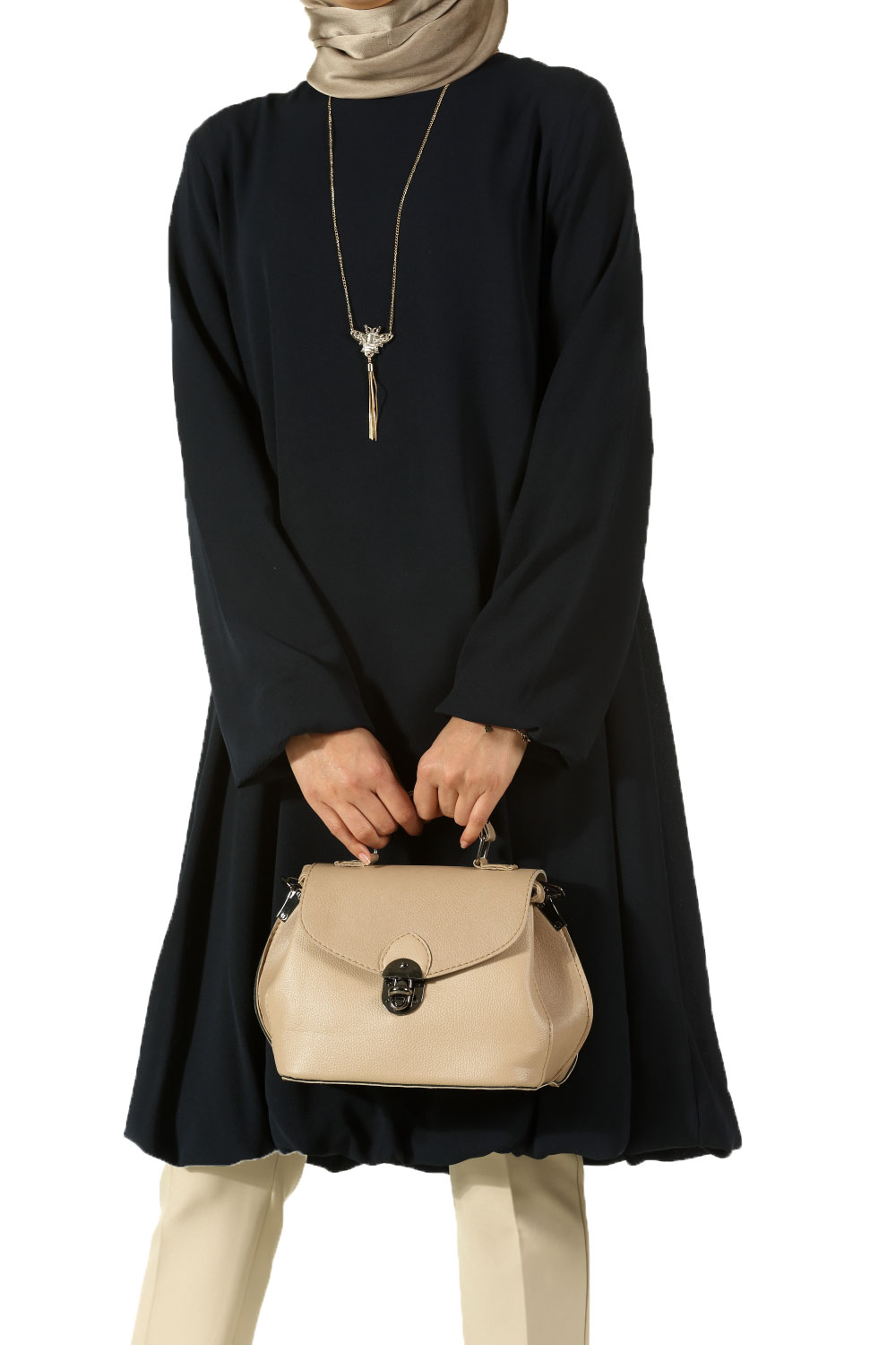 Balloon Tunic with Necklace