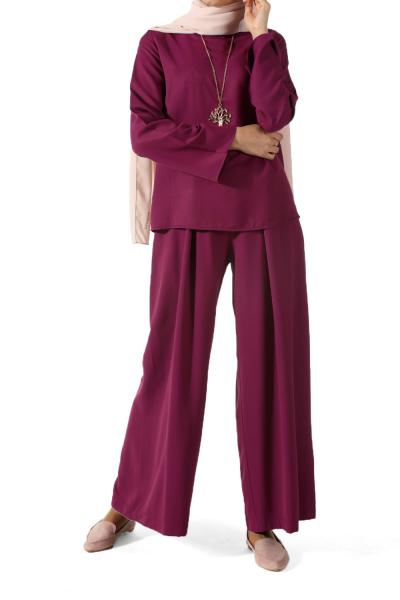 Kolyeli Tunik Pantolonlu İkili Takım