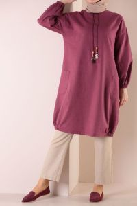 POCKET TUNIC WITH NECKLACE