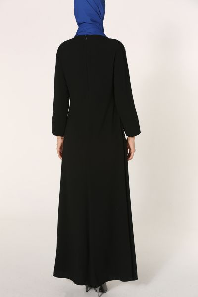 GÜZEY Kolları Pul Payet Kolyeli Elbise