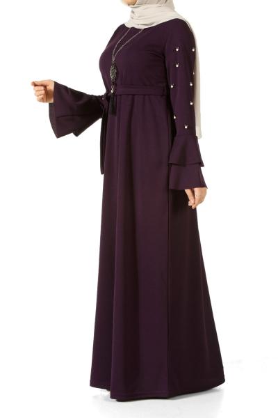 Kolyeli Kuşaklı Elbise