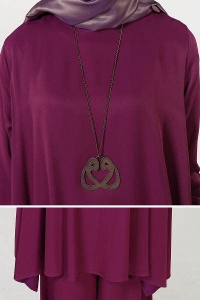 HIJAB SUITS WITH NECKLACE