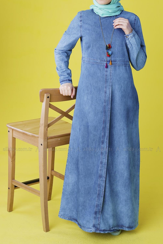 a44acb6b22 Middle Blue Random Jeans Dress - 2177