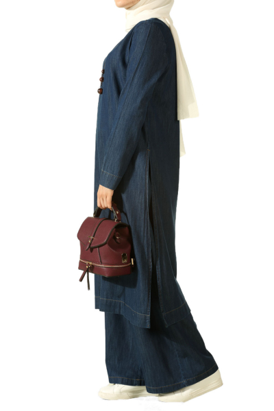 DENIM HIJAB SUIT