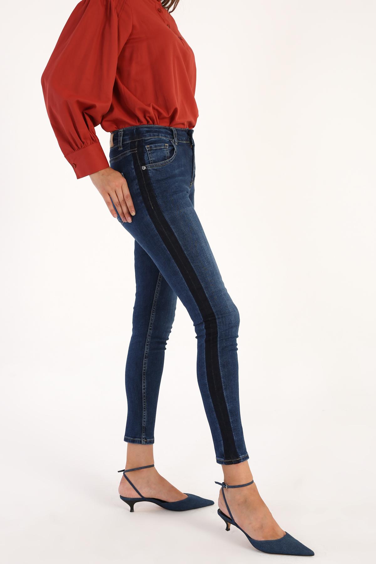 Line Detailed Skinny Jeans